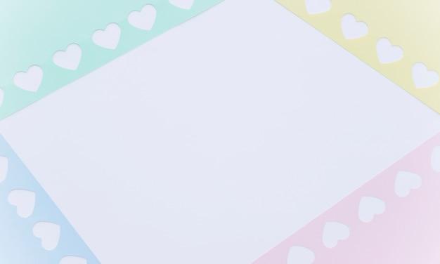 Рамки в виде маленьких бумажных сердечек