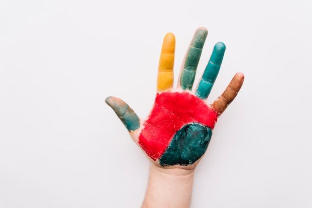 塗られた手