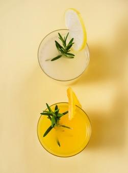 オレンジとレモンのさわやかなドリンク