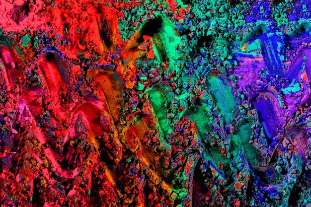 明るい色とりどりのホーリー祭の色
