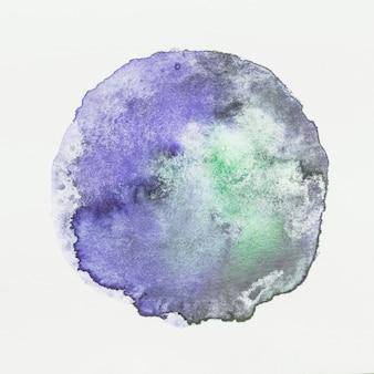 白い背景にビンテージグランジ水彩画のしみ
