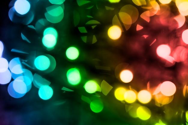 カラフルな妖精の光の背景のフルフレーム