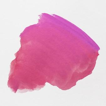 白い背景の上の抽象的な水彩画の筆