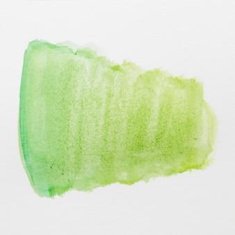 白い背景に分離された緑の水彩画の色合い