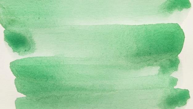 白い背景に対して緑色のブラシストロークのフルフレーム