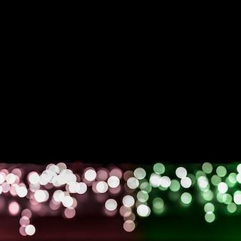 テキストを書くためのコピースペースと街の光のボケ味の背景