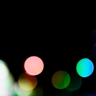 テキストを書くためのスペースと抽象的な光のボケ味の背景