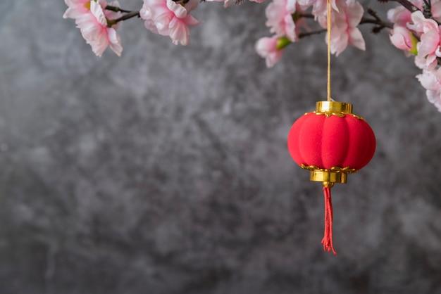 Цветочное китайское новогоднее украшение
