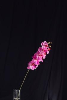 花瓶の枝に素晴らしい新鮮なピンクの花