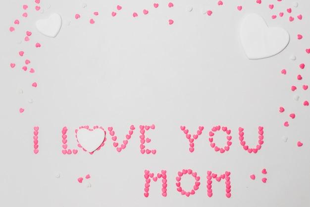 私はあなたを愛してお母さんの心のシンボルの碑文