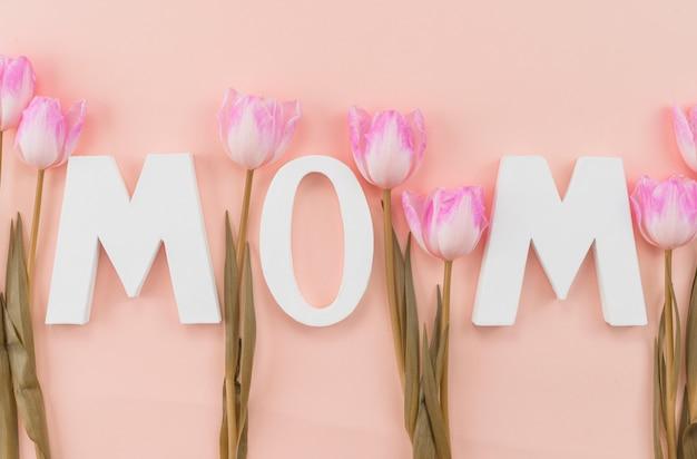 母の日のお祝いに設定