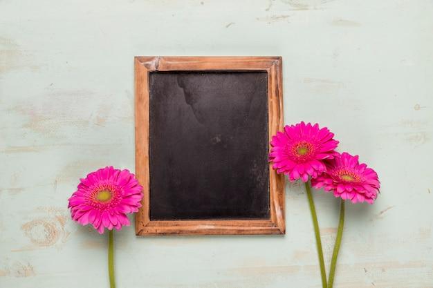 フレーム黒板装飾ガーベラ