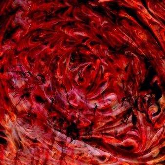 赤と黒の色の泡の明るい質感とのシームレスな壁紙