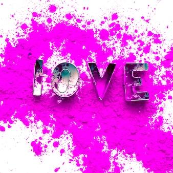 Акварельные краски фон с любовными письмами