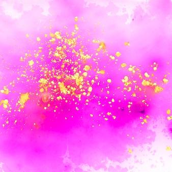 ホーリー祭の水彩絵の具の背景