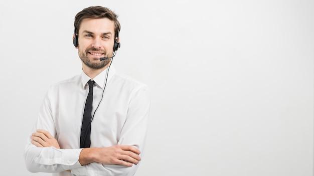 コールセンターのエージェントの肖像