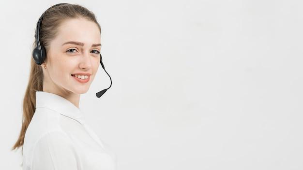 コールセンターの女性の肖像画