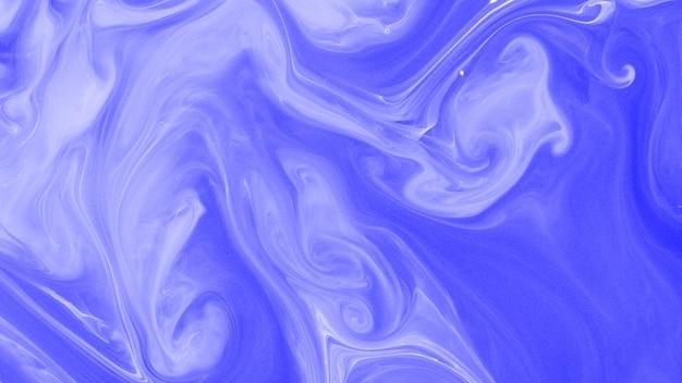 青と白の液体または大理石の抽象的な背景