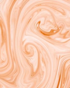 Абстрактный фрактал белый и оранжевый волнистый узор текстуры