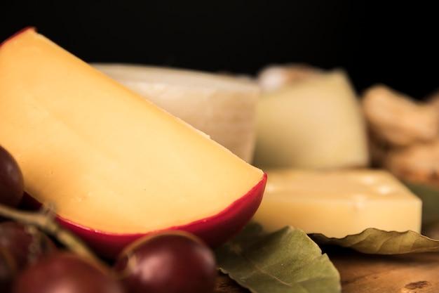 ゴーダチーズのクローズアップ
