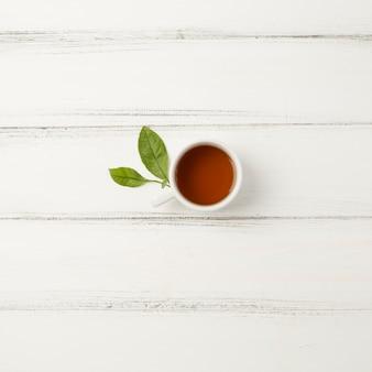 Вид сверху композиция для чая концепции