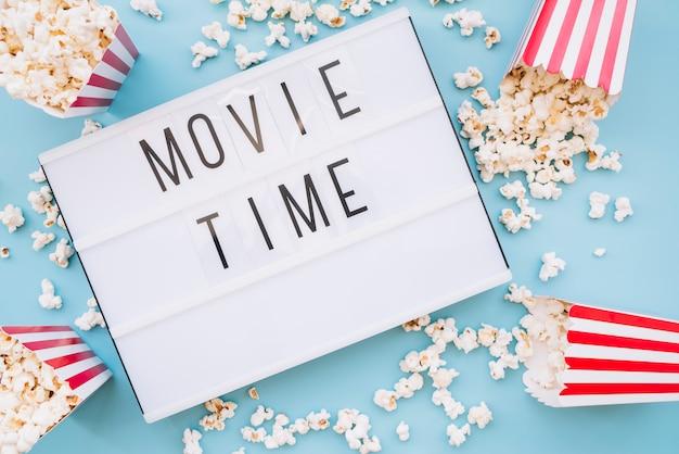 ポップコーンボックス、映画館の看板
