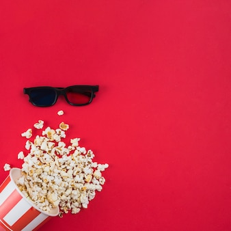 Попкорн фон для концепции кино