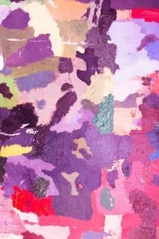 明るい色とりどりのアクリルの抽象絵画