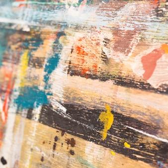 水彩画の抽象的な絵画の背景を描いた