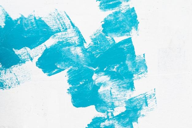 手描きのブルーの抽象的な水彩画の背景