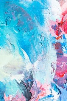 クリーミーな質感とカラフルな抽象絵画