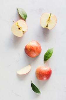 トップビューりんごの葉