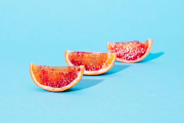 Вид сверху оранжевые секции