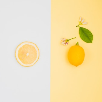 Вид сверху лимоны