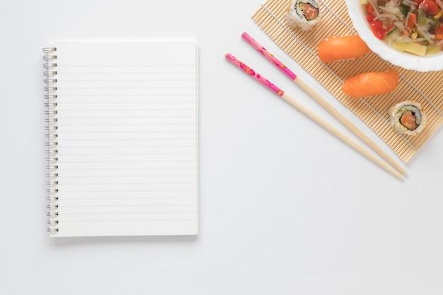 メモ帳テンプレートとフラットレイアウト寿司組成