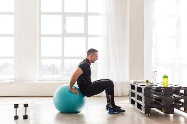 Фитнес человек