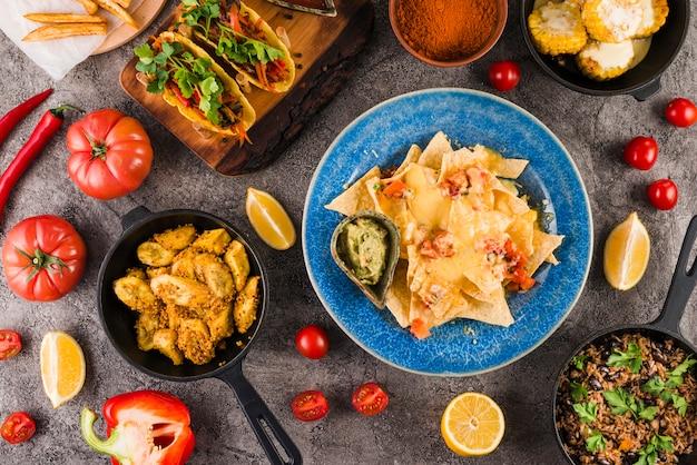 メキシコ料理の平干し
