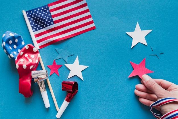 独立記念日のためのお祭りの装飾