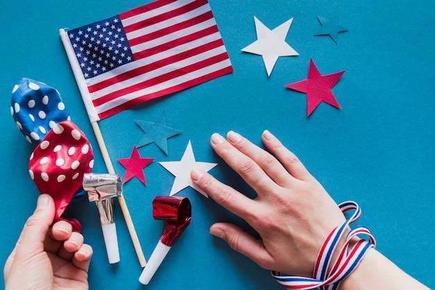 独立記念日のための装飾セット
