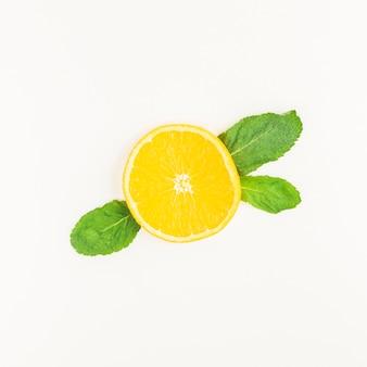 トップビューレモンの葉