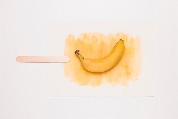 バナナと水彩のアイスクリーム