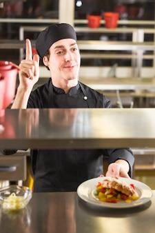 彼の料理を見せてシェフ