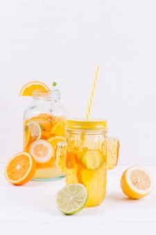 Прохладный цитрусовый напиток