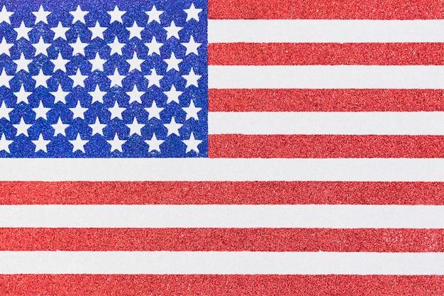 アメリカの国旗の図