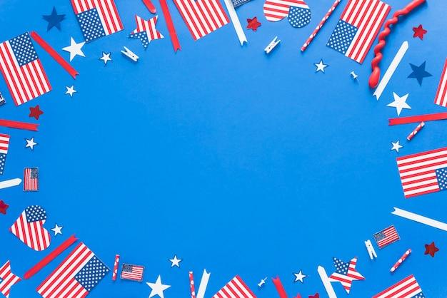 独立記念日のための紙の装飾