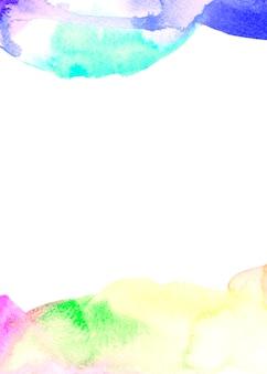 白地にブラシをかけられた塗られた抽象的なパターン