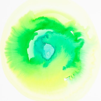 緑色の水彩手描きのグラデーションの背景
