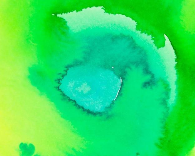 黄色と緑の水彩テクスチャ背景のフルフレーム