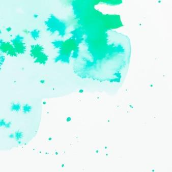 グリーン水彩画染色されたデザインの背景