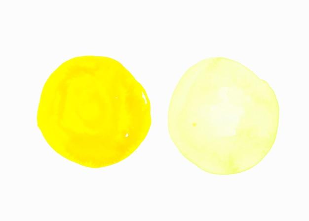白の背景に分離された明るく明るい黄色の背景